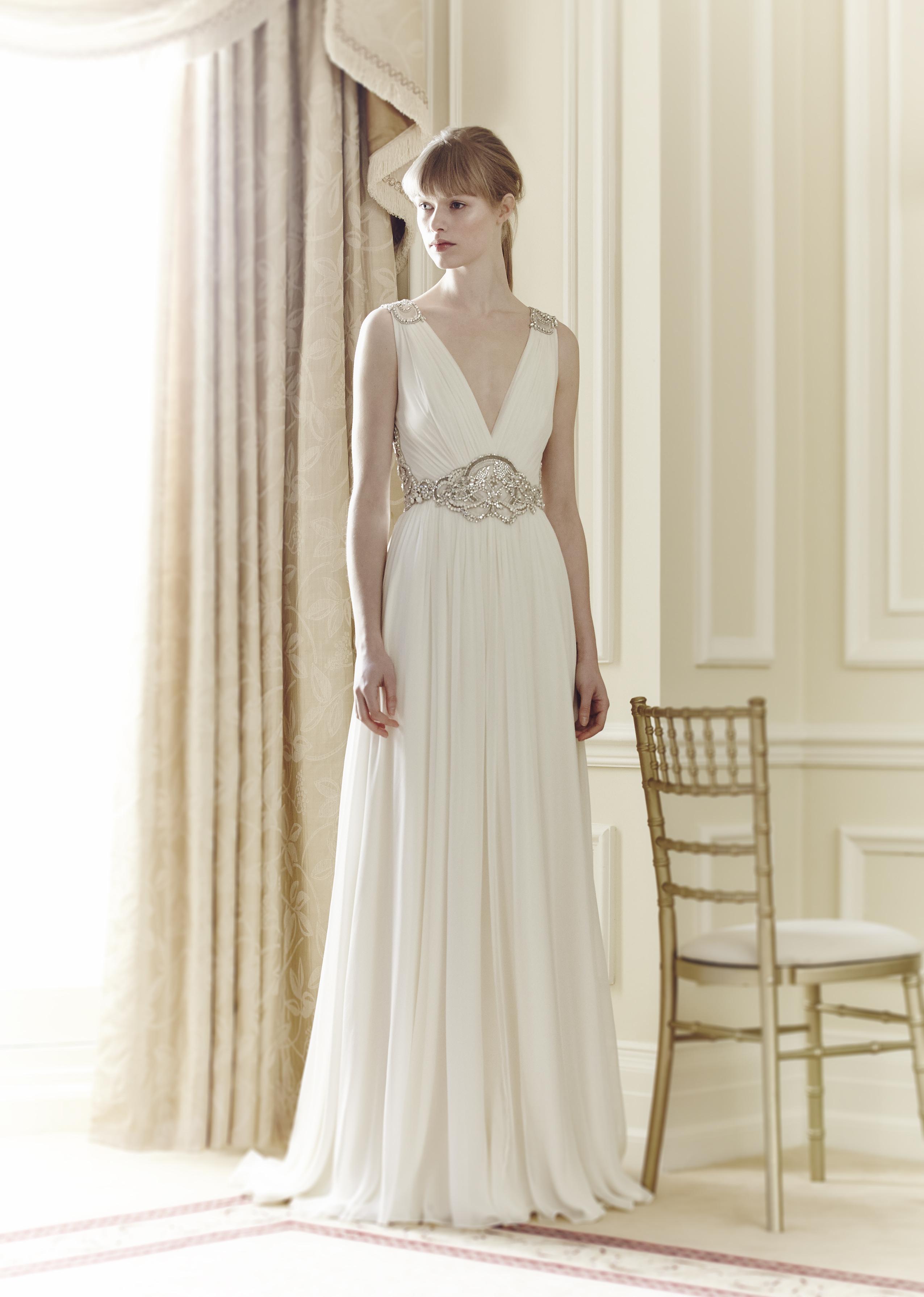 Wedding Dresses, Vintage Wedding Dresses, Hollywood Glam Wedding Dresses, Fashion, Glam Weddings, Vintage Weddings, V-neck Wedding Dresses, Jenny packham, Art Deco Weddings