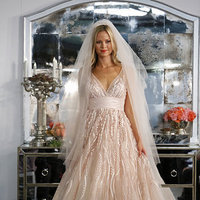 Wedding Dresses, A-line Wedding Dresses, Mermaid Wedding Dresses, Romantic Wedding Dresses, Fashion, pink, Spring Weddings, V-neck Wedding Dresses, Watters