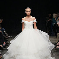 Wedding Dresses, Ball Gown Wedding Dresses, Ruffled Wedding Dresses, Lace Wedding Dresses, Romantic Wedding Dresses, Traditional Wedding Dresses, Fashion, Classic Weddings, Lazaro, Off the Shoulder Wedding Dresses