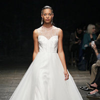 Wedding Dresses, Illusion Neckline Wedding Dresses, A-line Wedding Dresses, Traditional Wedding Dresses, Fashion, Classic Weddings, Lazaro