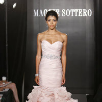 Wedding Dresses, Sweetheart Wedding Dresses, Mermaid Wedding Dresses, Ruffled Wedding Dresses, Hollywood Glam Wedding Dresses, Fashion, pink, Glam Weddings, Maggie Sottero