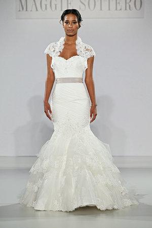 Wedding Dresses, Sweetheart Wedding Dresses, Mermaid Wedding Dresses, Lace Wedding Dresses, Romantic Wedding Dresses, Fashion, Spring Weddings, Garden Weddings, Maggie Sottero, Wedding Dresses with Jackets