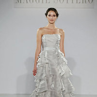 Wedding Dresses, Ruffled Wedding Dresses, Fashion, gray, Modern Weddings, Strapless Wedding Dresses, Maggie Sottero