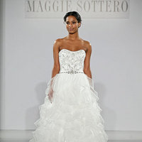 Wedding Dresses, A-line Wedding Dresses, Ruffled Wedding Dresses, Hollywood Glam Wedding Dresses, Fashion, Glam Weddings, Maggie Sottero