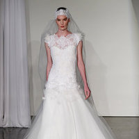 Wedding Dresses, Illusion Neckline Wedding Dresses, A-line Wedding Dresses, Lace Wedding Dresses, Romantic Wedding Dresses, Fashion, Spring Weddings, Garden Weddings, Marchesa