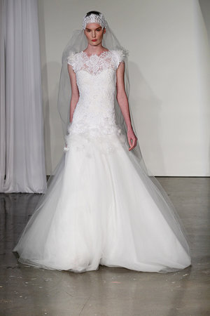 Wedding Dresses, Illusion Neckline Wedding Dresses, A-line Wedding Dresses, Lace Wedding Dresses, Romantic Wedding Dresses, Fashion, Spring Weddings, Garden Weddings, Marchesa