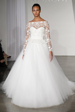 Wedding Dresses, Illusion Neckline Wedding Dresses, Ball Gown Wedding Dresses, Romantic Wedding Dresses, Traditional Wedding Dresses, Fashion, Classic Weddings, Marchesa, Wedding Dresses with Sleeves