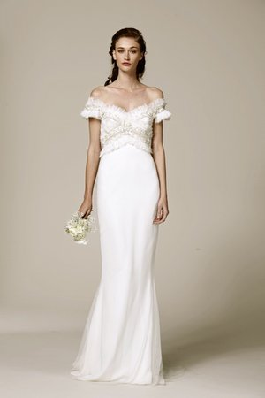 Wedding Dresses, Romantic Wedding Dresses, Fashion, Marchesa, Off the Shoulder Wedding Dresses