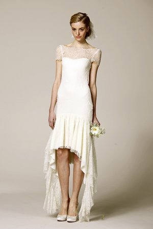 Wedding Dresses, Illusion Neckline Wedding Dresses, Romantic Wedding Dresses, Fashion, Spring Weddings, Boho Chic Weddings, Marchesa, Short Wedding Dresses