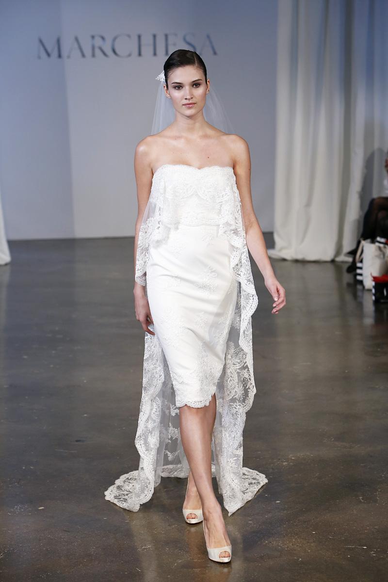 Wedding Dresses, Lace Wedding Dresses, Romantic Wedding Dresses, Fashion, white, Modern Weddings, Strapless Wedding Dresses, Marchesa, Short Wedding Dresses