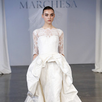 Wedding Dresses, Illusion Neckline Wedding Dresses, Ball Gown Wedding Dresses, Lace Wedding Dresses, Vintage Wedding Dresses, Traditional Wedding Dresses, Fashion, white, Classic Weddings, Vintage Weddings, Marchesa, Wedding Dresses with Sleeves