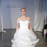 Wedding Dresses, Sweetheart Wedding Dresses, Ball Gown Wedding Dresses, Ruffled Wedding Dresses, Vintage Wedding Dresses, Fashion, white, Classic Weddings, Vintage Weddings, Marchesa, Off the Shoulder Wedding Dresses