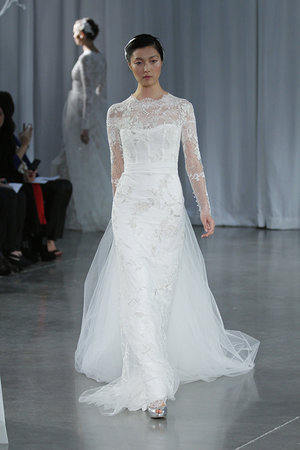 Wedding Dresses, Illusion Neckline Wedding Dresses, Lace Wedding Dresses, Romantic Wedding Dresses, Vintage Wedding Dresses, Fashion, Monique lhuillier, Wedding Dresses with Sleeves