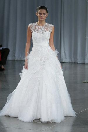 Wedding Dresses, Illusion Neckline Wedding Dresses, A-line Wedding Dresses, Fashion, Monique lhuillier