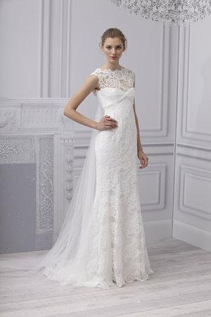 Wedding Dresses, Illusion Neckline Wedding Dresses, Lace Wedding Dresses, Romantic Wedding Dresses, Vintage Wedding Dresses, Fashion, Spring Weddings, Garden Weddings, Monique lhuillier