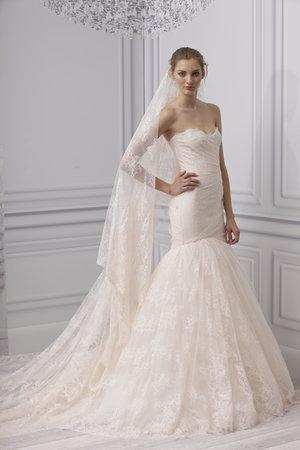 Wedding Dresses, Mermaid Wedding Dresses, Lace Wedding Dresses, Romantic Wedding Dresses, Fashion, pink, Spring Weddings, Strapless Wedding Dresses, Monique lhuillier, Pink Wedding Dresses