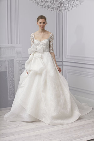 Wedding Dresses, Ball Gown Wedding Dresses, Lace Wedding Dresses, Romantic Wedding Dresses, Fashion, Winter Weddings, Monique lhuillier, Wedding Dresses with Sleeves, Scoop Neck Wedding Dresses