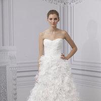 Wedding Dresses, Sweetheart Wedding Dresses, A-line Wedding Dresses, Ruffled Wedding Dresses, Romantic Wedding Dresses, Fashion, Monique lhuillier