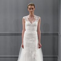 Wedding Dresses, Mermaid Wedding Dresses, Lace Wedding Dresses, Romantic Wedding Dresses, Fashion, white, V-neck Wedding Dresses, Monique lhuillier