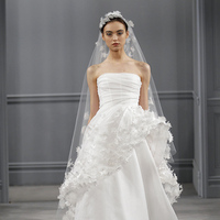 Wedding Dresses, A-line Wedding Dresses, Fashion, white, Garden Weddings, Modern Weddings, Strapless Wedding Dresses, Monique lhuillier