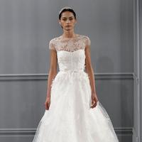Wedding Dresses, Illusion Neckline Wedding Dresses, A-line Wedding Dresses, Lace Wedding Dresses, Vintage Wedding Dresses, Traditional Wedding Dresses, Fashion, white, Vintage Weddings, Monique lhuillier