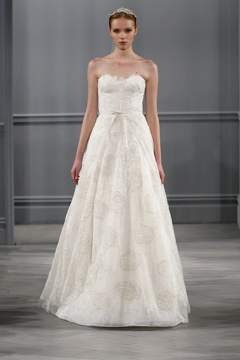 Wedding Dresses, Sweetheart Wedding Dresses, A-line Wedding Dresses, Lace Wedding Dresses, Traditional Wedding Dresses, Fashion, white, Monique lhuillier
