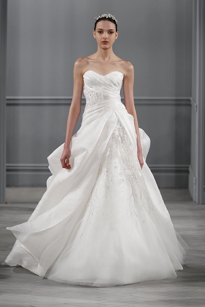 Wedding Dresses, Sweetheart Wedding Dresses, A-line Wedding Dresses, Romantic Wedding Dresses, Traditional Wedding Dresses, Fashion, white, Classic Weddings, Monique lhuillier