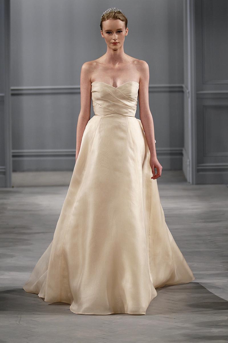 Wedding Dresses, Sweetheart Wedding Dresses, A-line Wedding Dresses, Romantic Wedding Dresses, Fashion, gold, Fall Weddings, Garden Weddings, Modern Weddings, Monique lhuillier