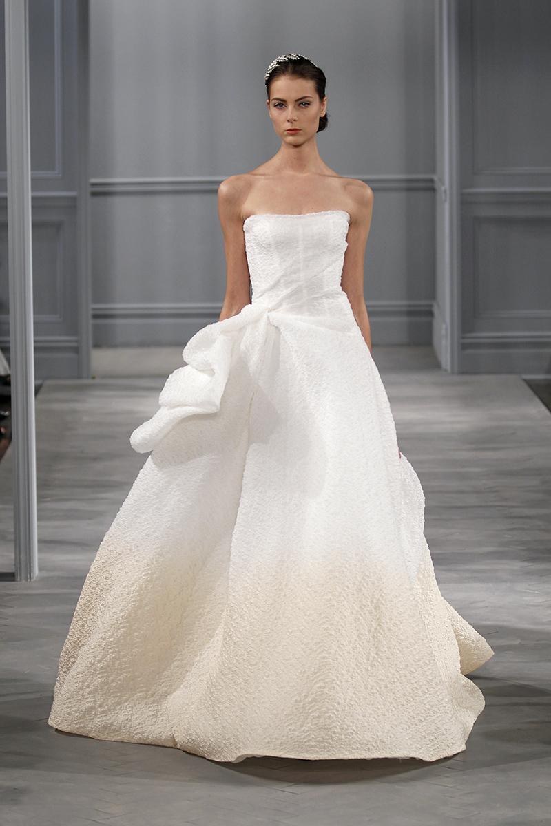 Wedding Dresses, Ball Gown Wedding Dresses, Ruffled Wedding Dresses, Romantic Wedding Dresses, Fashion, white, Modern Weddings, Strapless Wedding Dresses, Monique lhuillier