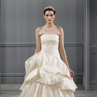 Wedding Dresses, Ball Gown Wedding Dresses, Ruffled Wedding Dresses, Romantic Wedding Dresses, Traditional Wedding Dresses, Fashion, ivory, Classic Weddings, Strapless Wedding Dresses, Monique lhuillier