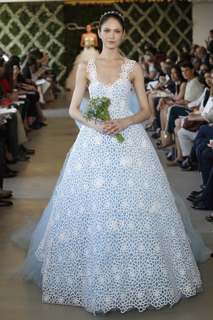 Wedding Dresses, A-line Wedding Dresses, Lace Wedding Dresses, Romantic Wedding Dresses, Fashion, blue, Modern Weddings, Oscar de la renta