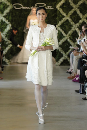Wedding Dresses, Fashion, Oscar de la renta, Wedding Dresses with Jackets, Short Wedding Dresses