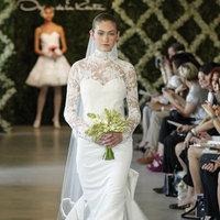 Wedding Dresses, Illusion Neckline Wedding Dresses, Lace Wedding Dresses, Romantic Wedding Dresses, Vintage Wedding Dresses, Fashion, Oscar de la renta, Wedding Dresses with Sleeves