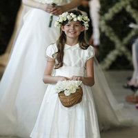 Flower Girl Dresses, Fashion, white, Oscar de la renta