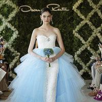 Wedding Dresses, Sweetheart Wedding Dresses, Ball Gown Wedding Dresses, Lace Wedding Dresses, Fashion, blue, Glam Weddings, Oscar de la renta