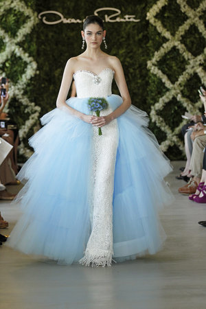 Wedding Dresses, Sweetheart Wedding Dresses, Ball Gown Wedding Dresses, Lace Wedding Dresses, Fashion, blue, Glam Weddings, Oscar de la renta