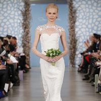 Wedding Dresses, Sweetheart Wedding Dresses, Illusion Neckline Wedding Dresses, Mermaid Wedding Dresses, Hollywood Glam Wedding Dresses, Fashion, white, Glam Weddings, Modern Weddings, Oscar de la renta