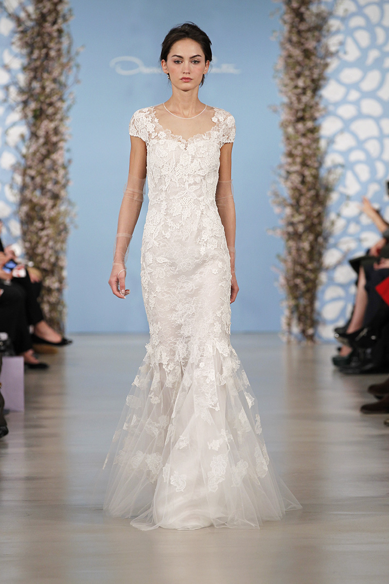 Wedding Dresses, Illusion Neckline Wedding Dresses, Mermaid Wedding Dresses, Lace Wedding Dresses, Romantic Wedding Dresses, Fashion, Oscar de la renta, Wedding Dresses with Sleeves