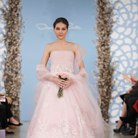 Wedding Dresses, Ball Gown Wedding Dresses, Lace Wedding Dresses, Fashion, pink, Strapless Wedding Dresses, Oscar de la renta