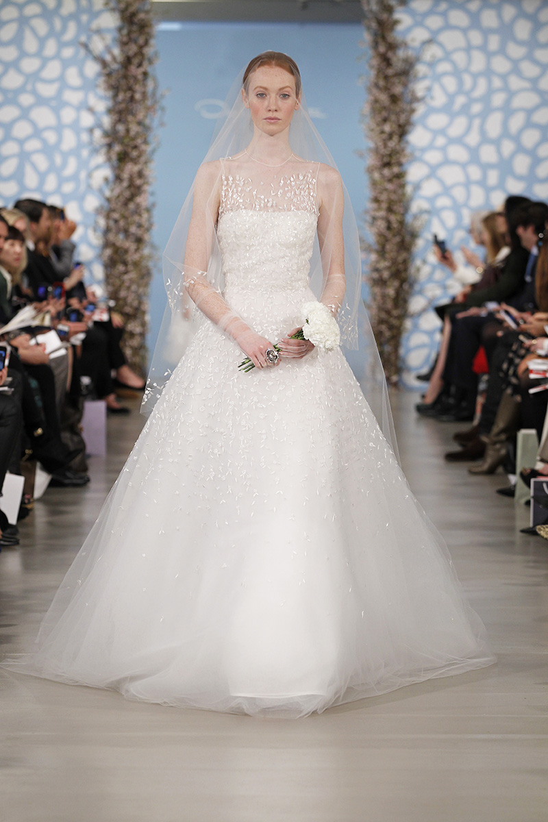 Wedding Dresses, Illusion Neckline Wedding Dresses, A-line Wedding Dresses, Vintage Wedding Dresses, Traditional Wedding Dresses, Fashion, Classic Weddings, Oscar de la renta