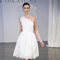 Wedding Dresses, One-Shoulder Wedding Dresses, Lace Wedding Dresses, Fashion, City Weddings, Marchesa, Short Wedding Dresses