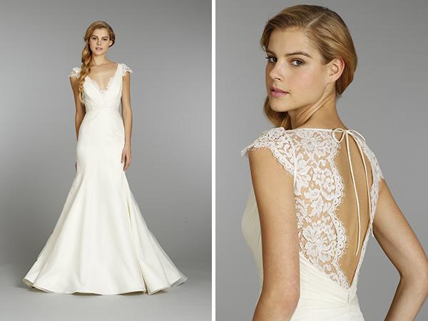 Wedding Dresses, Mermaid Wedding Dresses, Lace Wedding Dresses, Fashion, V-neck Wedding Dresses, Blush by Jim Hjelm