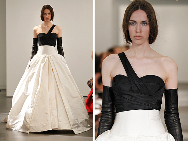 Wedding Dresses, One-Shoulder Wedding Dresses, Ball Gown Wedding Dresses, Fashion, black, Modern Weddings, Vera wang