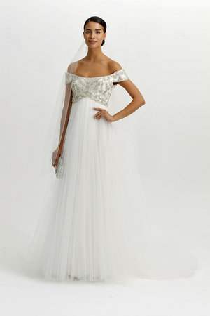 Wedding Dresses, Romantic Wedding Dresses, Fashion, Boho Chic Weddings, Marchesa, Off the Shoulder Wedding Dresses