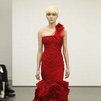 Wedding Dresses, One-Shoulder Wedding Dresses, Mermaid Wedding Dresses, Ruffled Wedding Dresses, Fashion, red wedding dresses