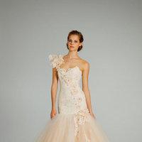 Wedding Dresses, One-Shoulder Wedding Dresses, Mermaid Wedding Dresses, Fashion, Pink Wedding Dresses