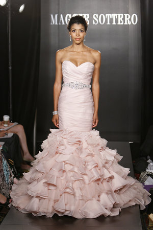 Wedding Dresses, Sweetheart Wedding Dresses, Mermaid Wedding Dresses, Ruffled Wedding Dresses, Fashion, Pink Wedding Dresses