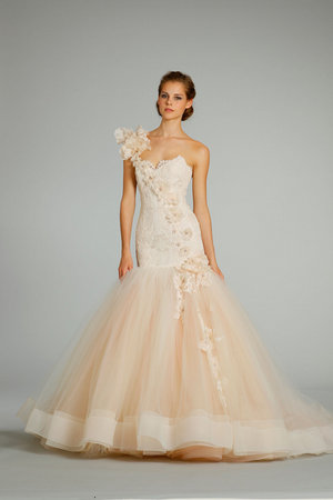 Wedding Dresses, Sweetheart Wedding Dresses, One-Shoulder Wedding Dresses, Mermaid Wedding Dresses, Fashion, Pink Wedding Dresses