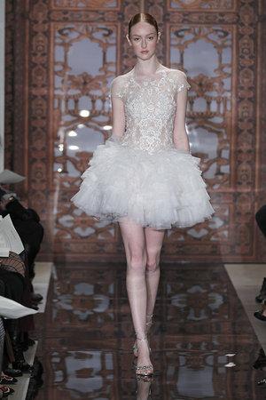 Wedding Dresses, Ruffled Wedding Dresses, Fashion, Wedding Dresses with Sleeves, Short Wedding Dresses