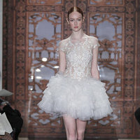 Wedding Dresses, Ruffled Wedding Dresses, Fashion, Wedding Dresses with Sleeves, Short Wedding Dresses